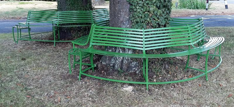 'Leaf' tree seats. Public Art Commission for East Hanney.