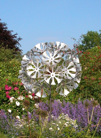 'Dandelion Clock' Garden Sculpture.