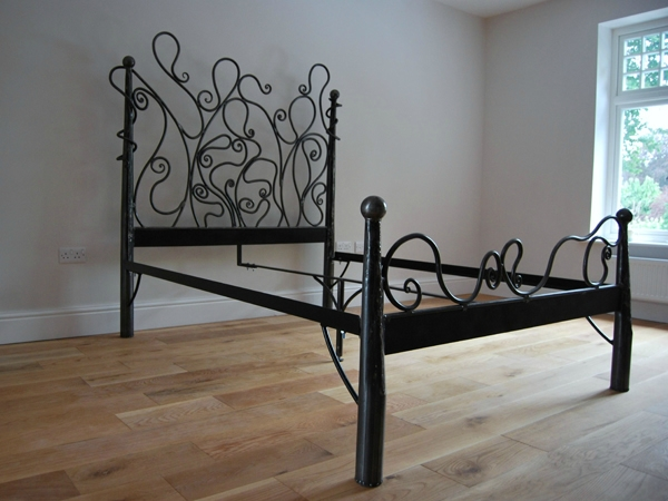 Art Nouveau Bed Frame. Interiors.
